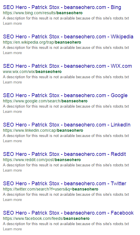 Be An SEO Hero - Patrick Stox SERP Takeover