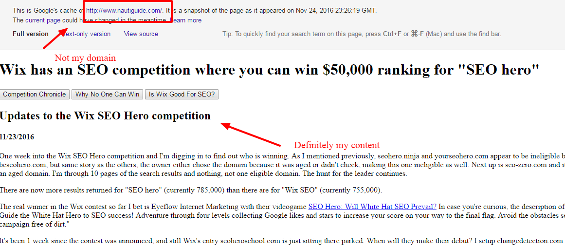 Is someone already trying to sabotage my Wix SEO hero contest website with blackhat tactics?
