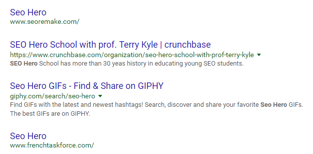 Be An SEO Hero being hijacked again
