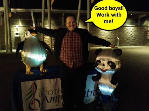 SEO Hero Patrick Stox with a Panda and a Penguin