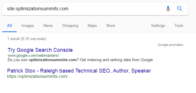 2nd result showing serp